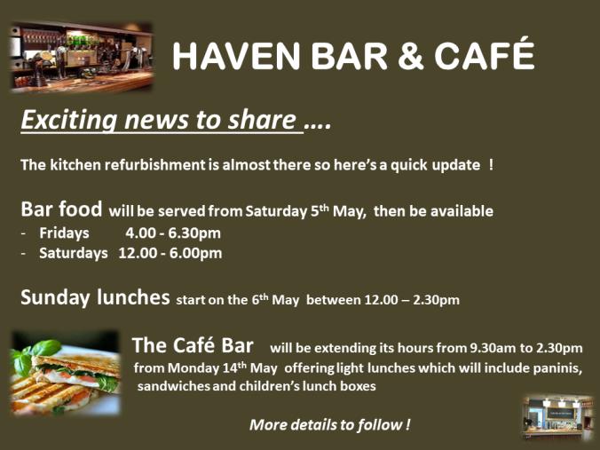 HAVEN BAR & CAFÉ FOOD